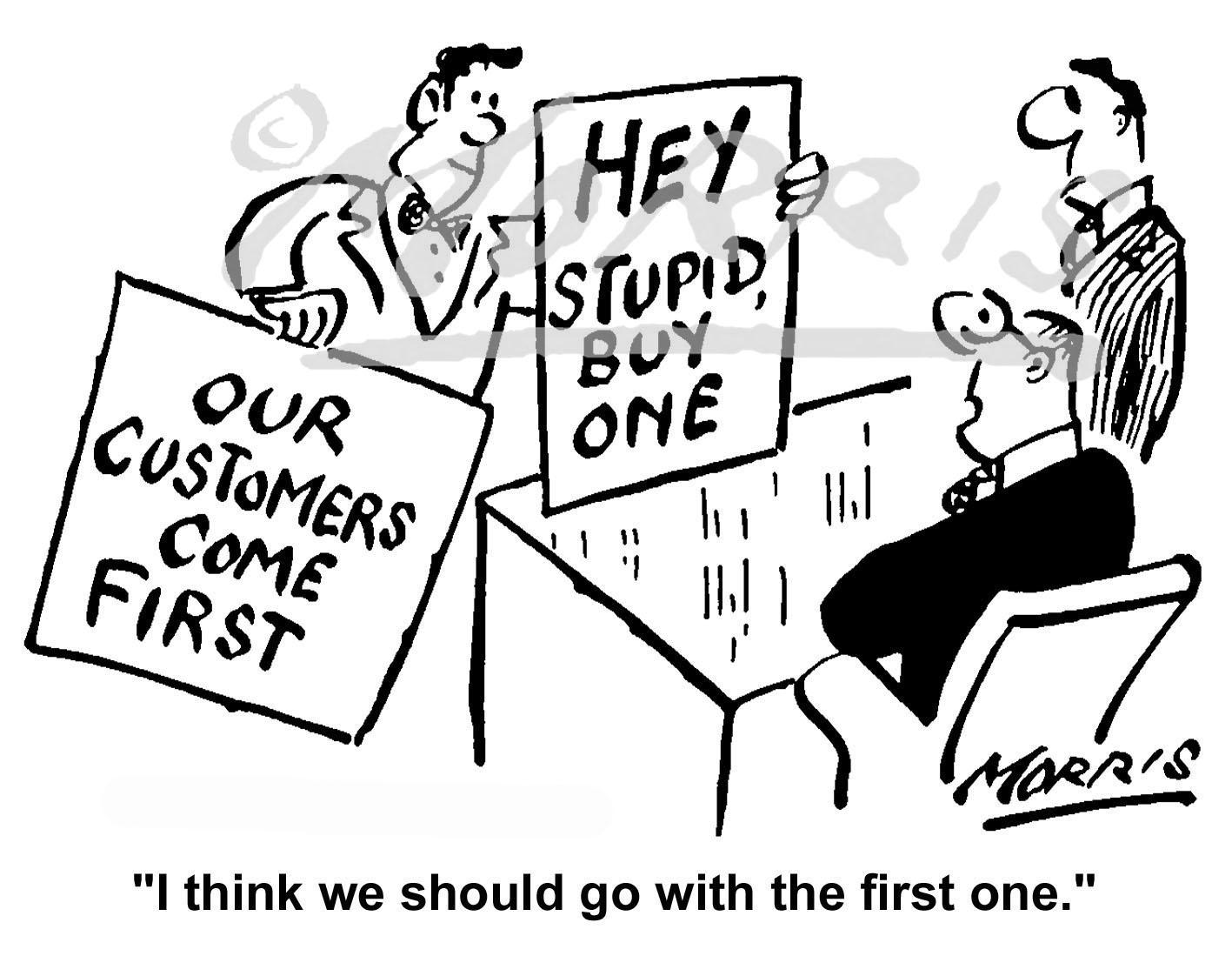 Advertising business cartoon Ref: 1683bw