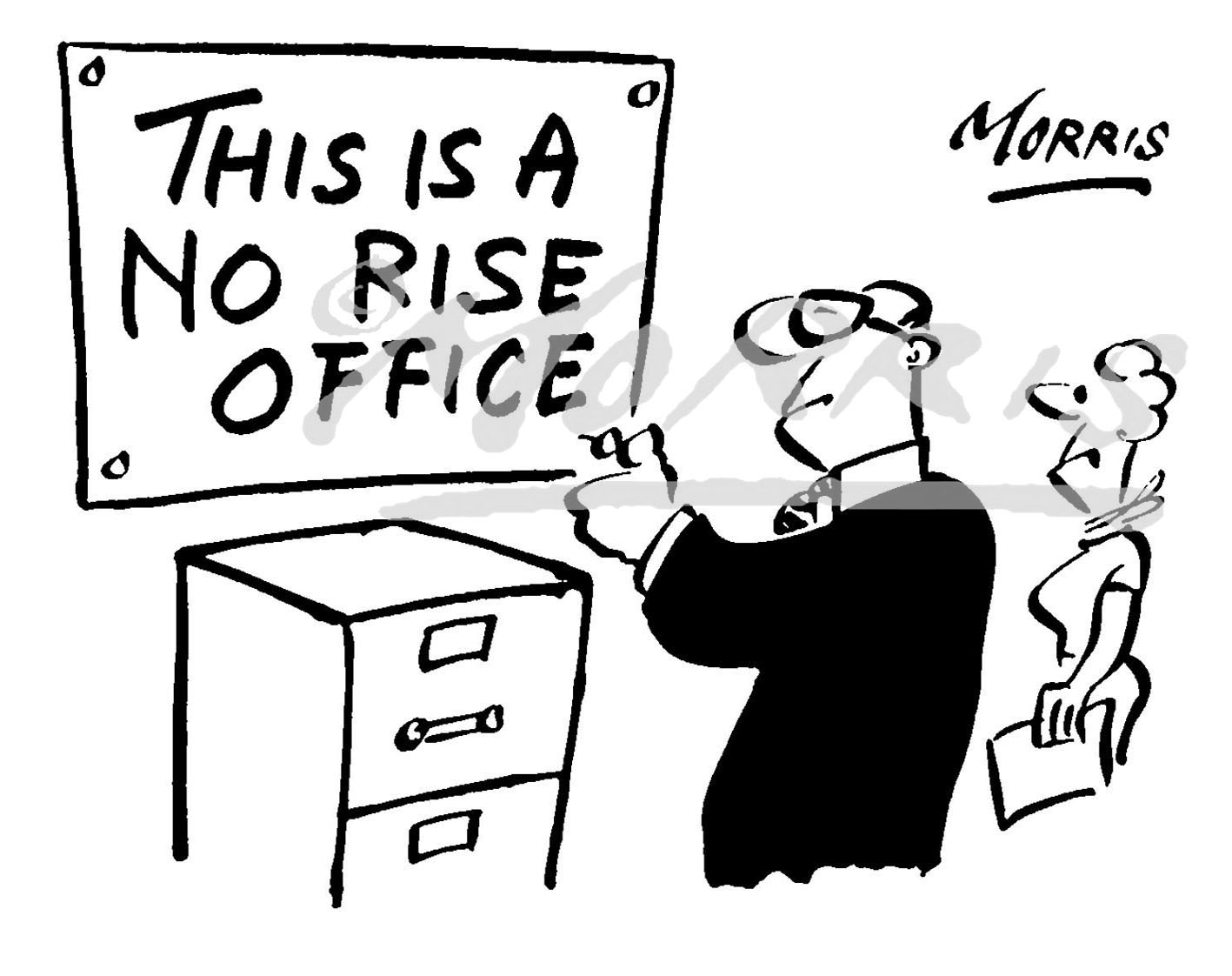 Office management cartoon, wages comic Ref: 1721bw