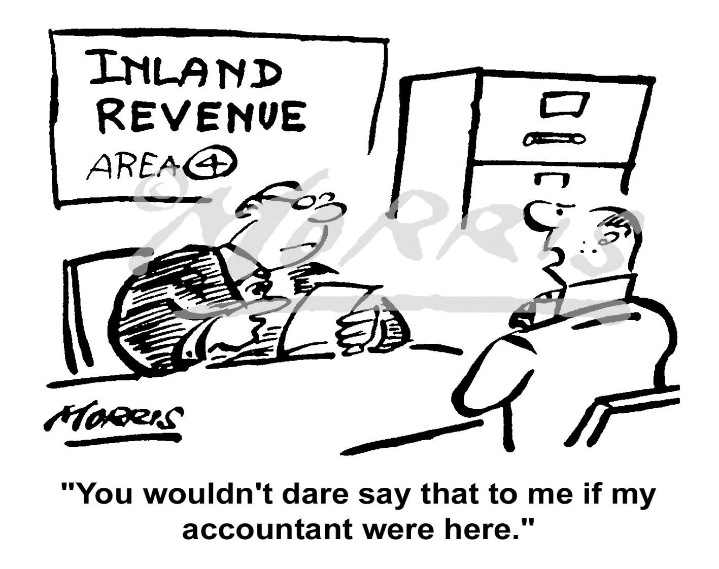 Tax accountant cartoon – Ref: 1740bw
