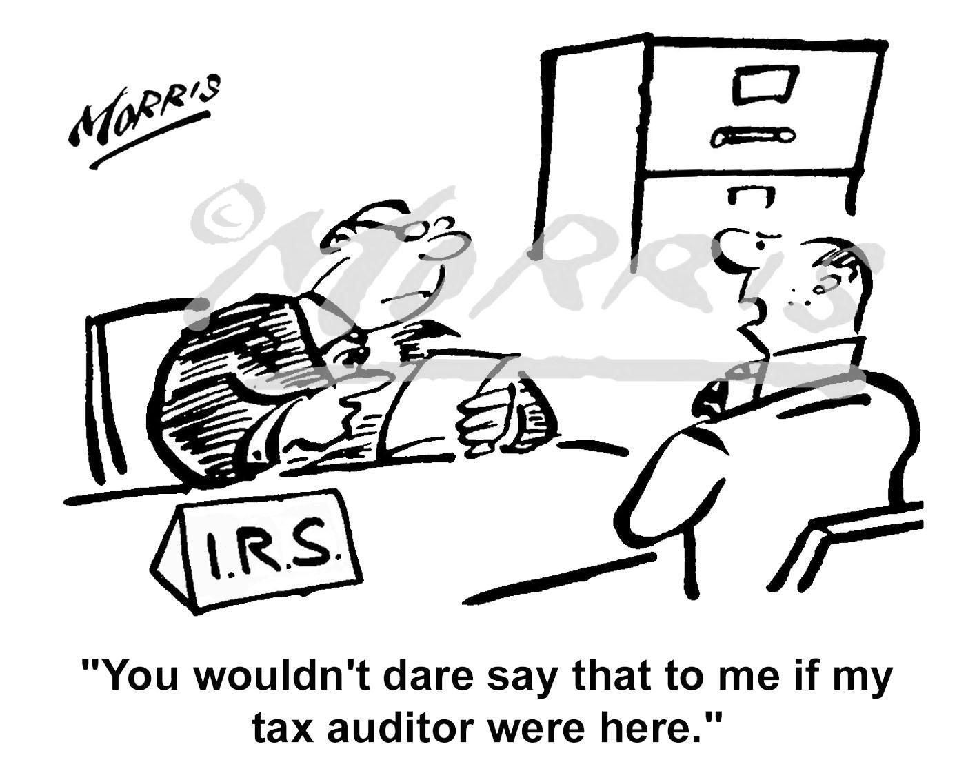 Tax auditor cartoon – Ref: 1740bwus
