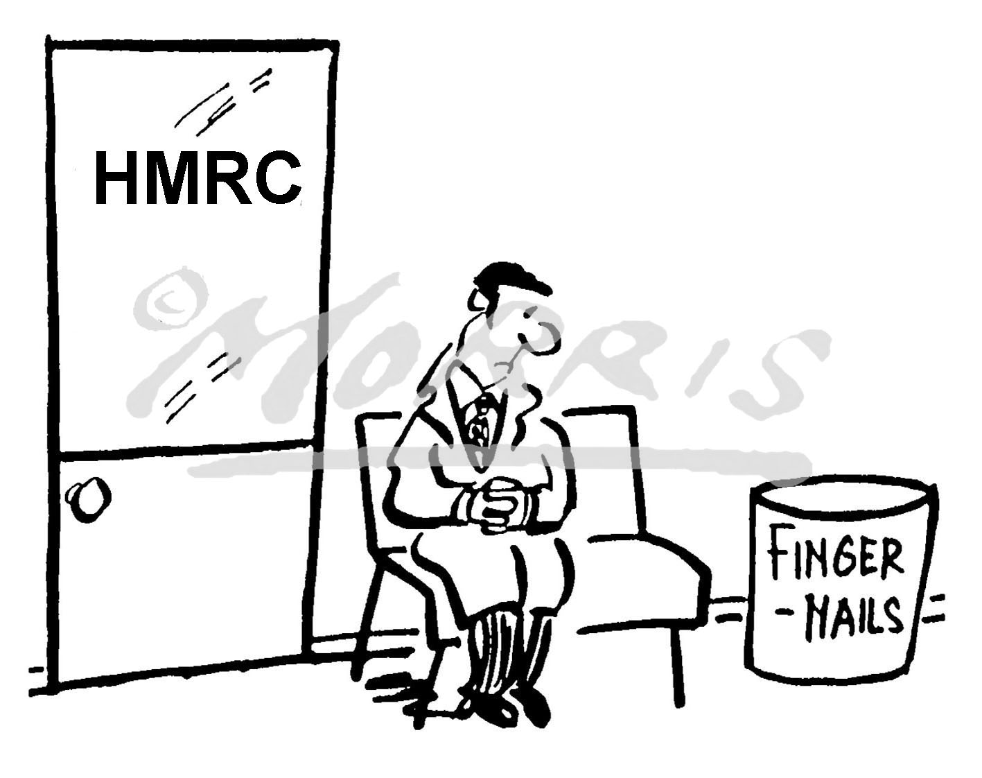 HMRC tax cartoon – Ref: 1745bw