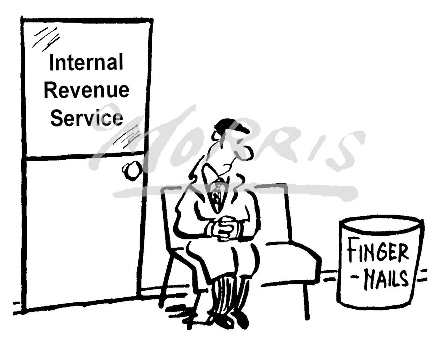 IRS tax comic cartoon Ref: 1745bwus