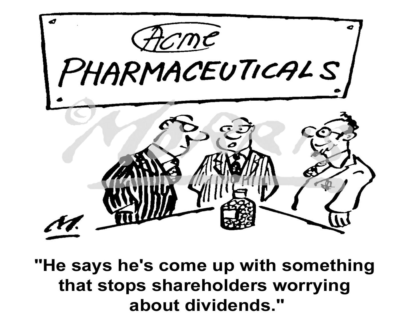 Heath care and stock market investors cartoon Ref: 1760bw