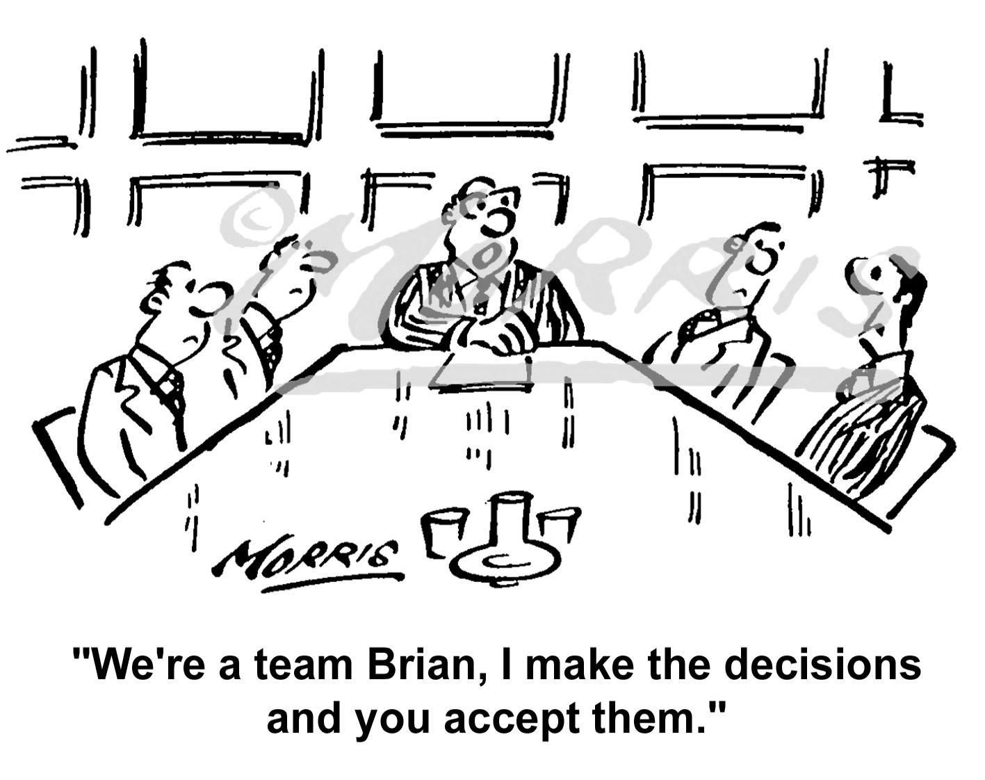 Boardroom cartoon Ref: 1768bw