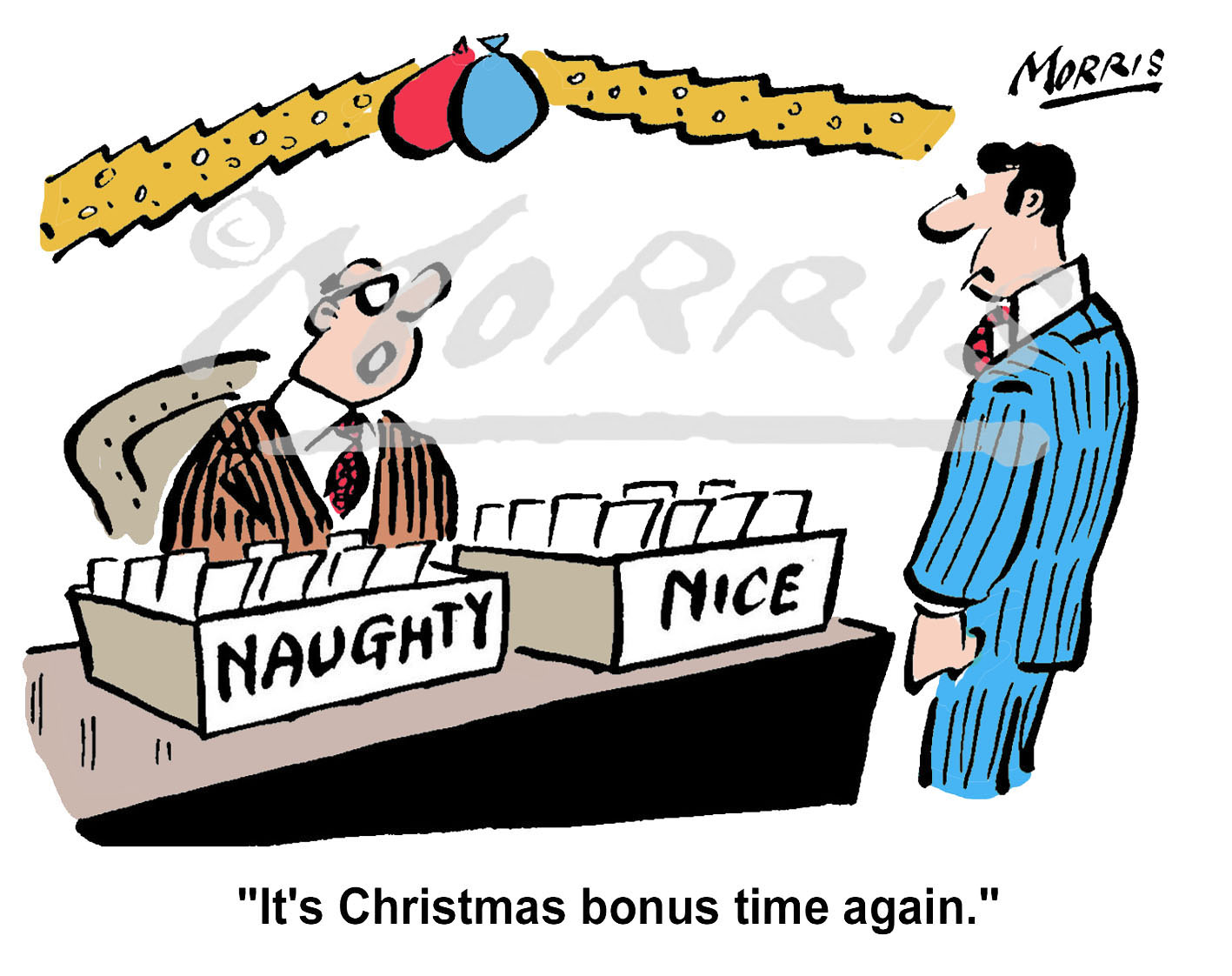 Christmas bonus cartoon Ref: 1919col