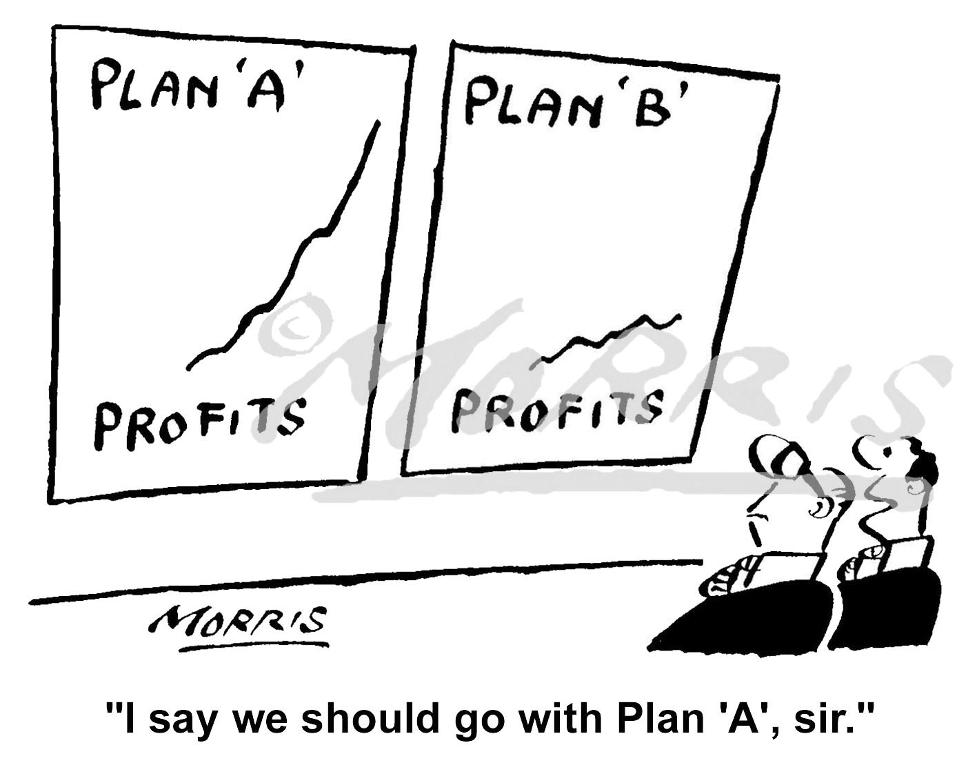Boardroom Profits graph cartoon – Ref: 1997bw