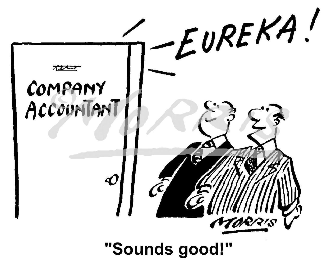 Accountant business cartoon – Ref: 2006bw