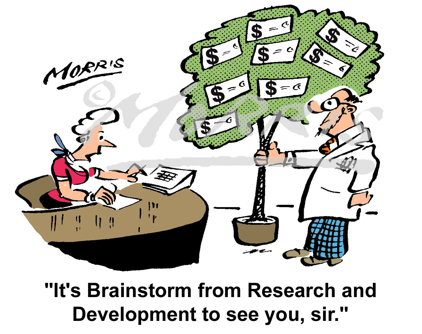Research and Development comic cartoon – Ref: 2209colus