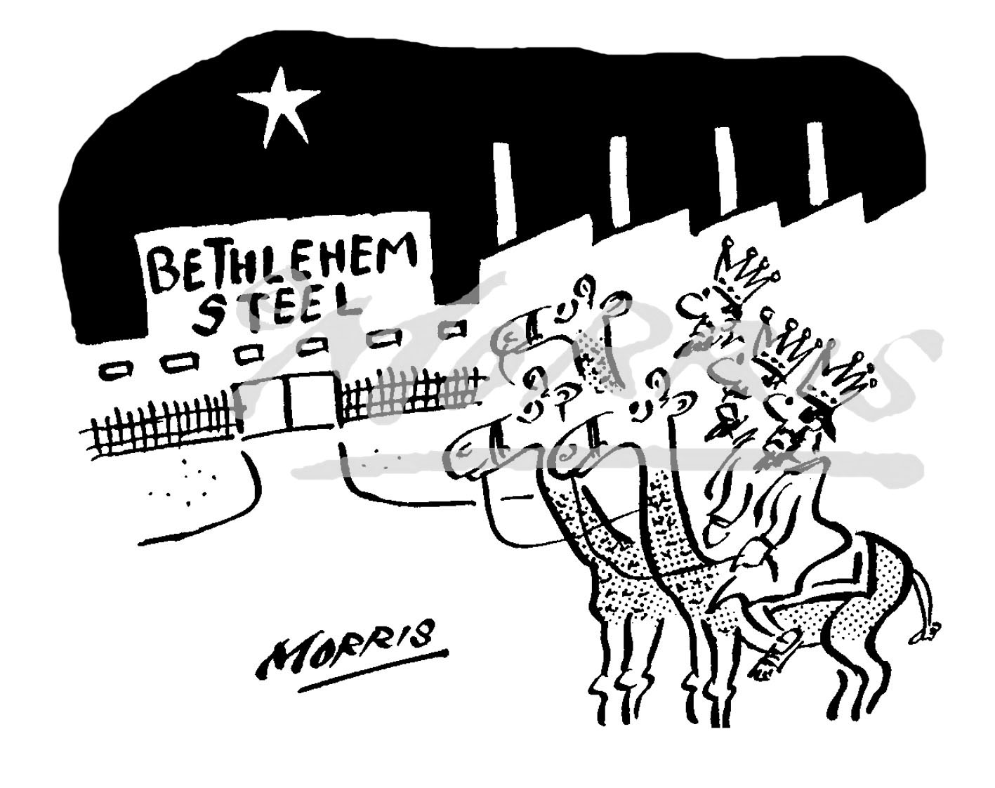 Christmas business cartoon Ref: 2236bw