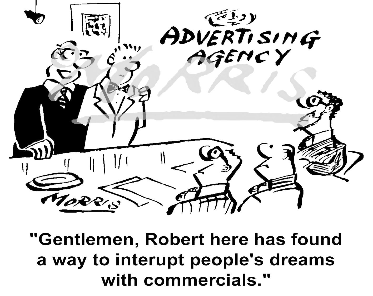 Adverising agency business cartoon – Ref: 2300bw