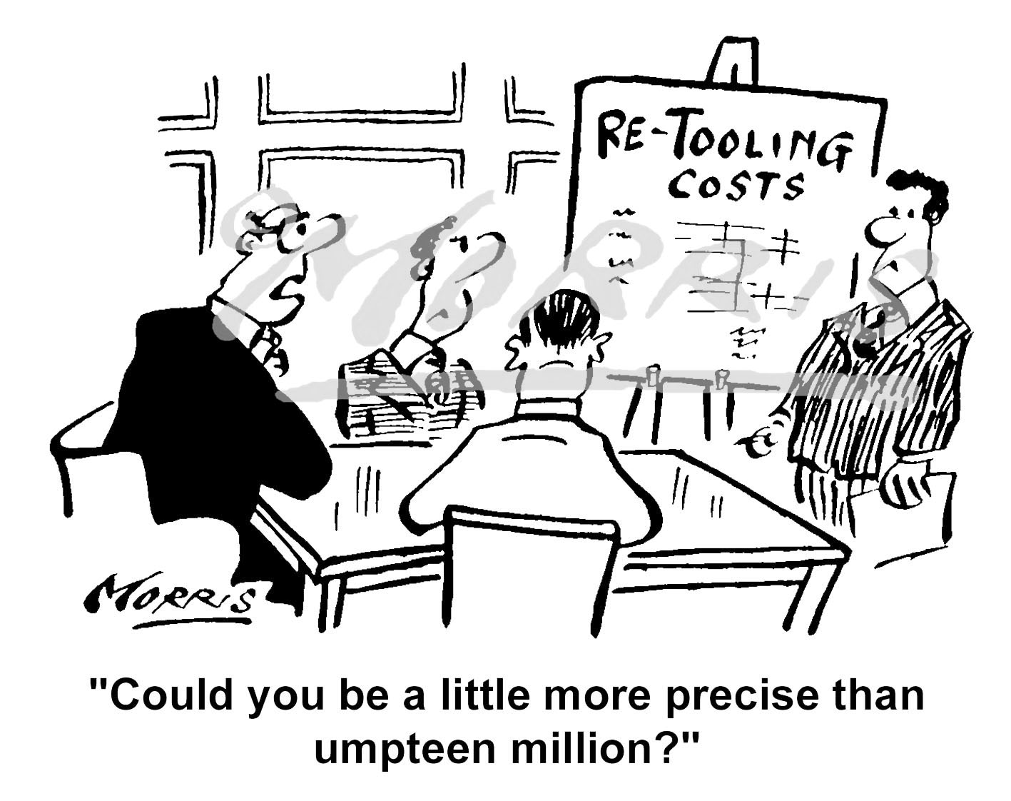 Boardroom cartoon, Chairman cartoon, Managing Director cartoon – Ref: 2321bw