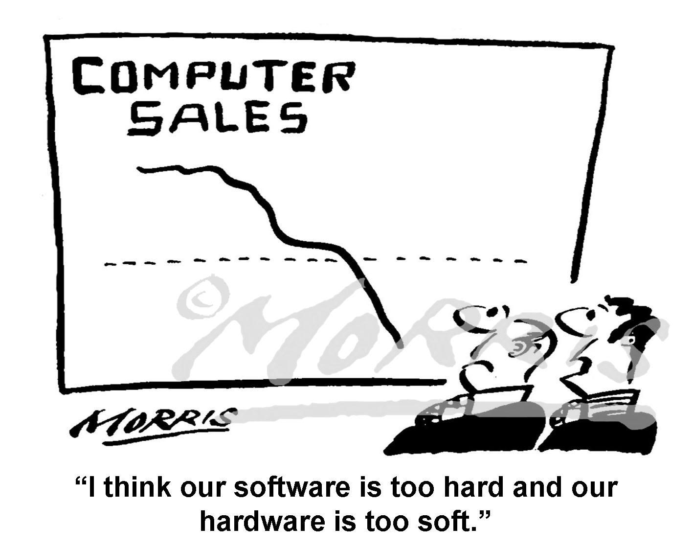 Hardware cartoon, Software cartoon – Ref: 2371