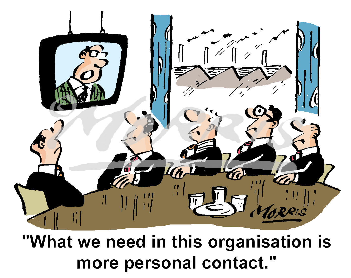 Office communication meeting cartoon – Ref: 2388col