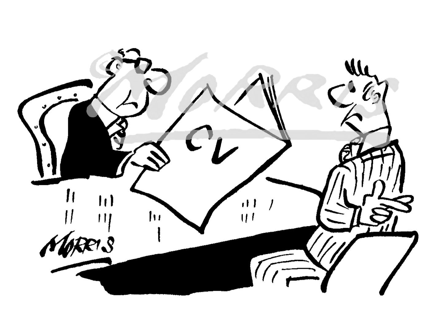 HR business comic cartoon – Ref: 2547bw
