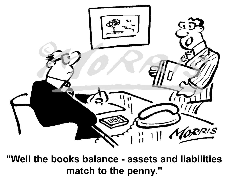 Accountant cartoon, Accountancy cartoon, Auditor cartoon - Ref: 2807bw