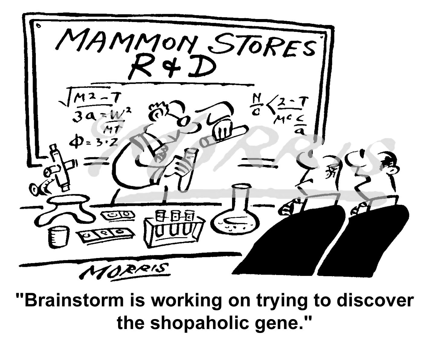 Research and Development cartoon – Ref: 2918bw