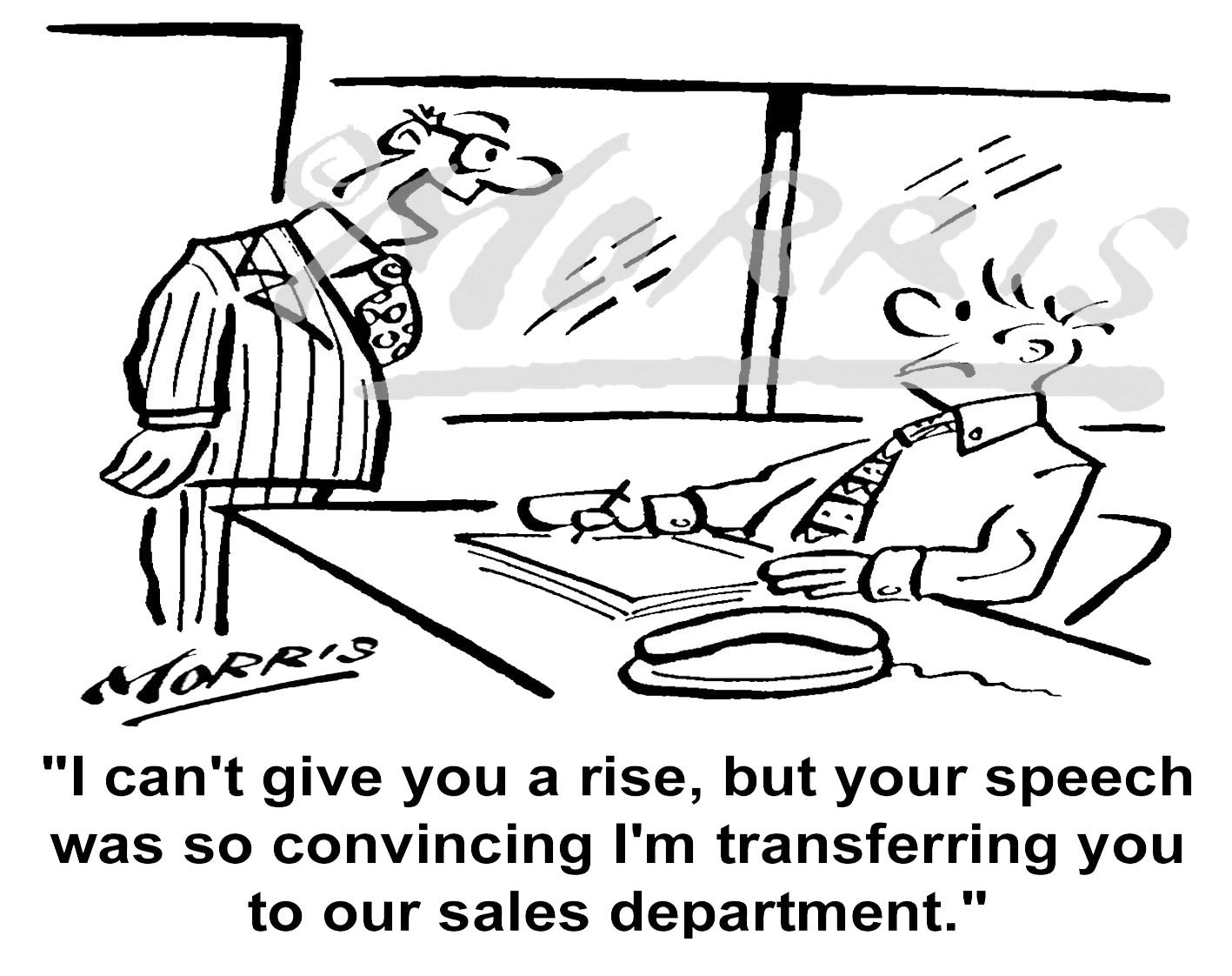 Company Salesperson cartoon – Ref: 3205bw