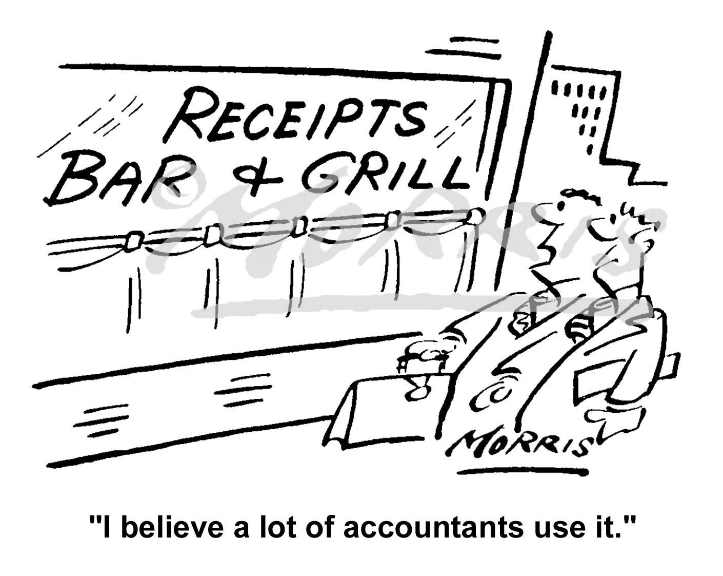 Accountancy business cartoon – Ref: 3320bw