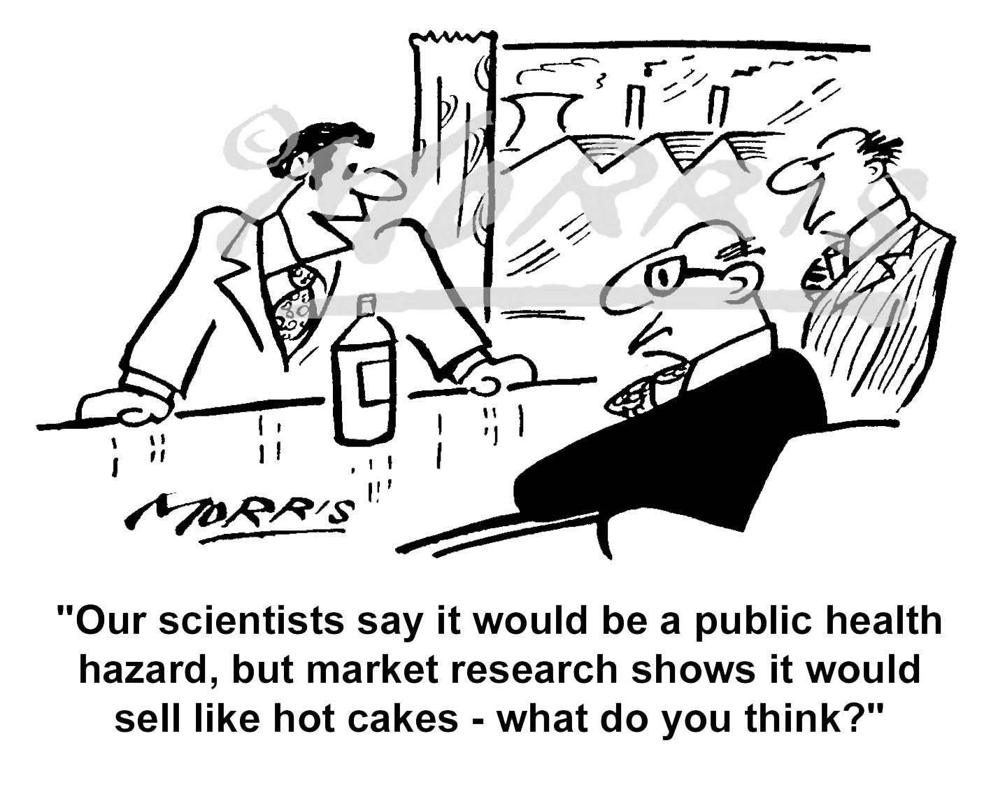 Marketing cartoon, Marketing research cartoon – Ref: 3367bw