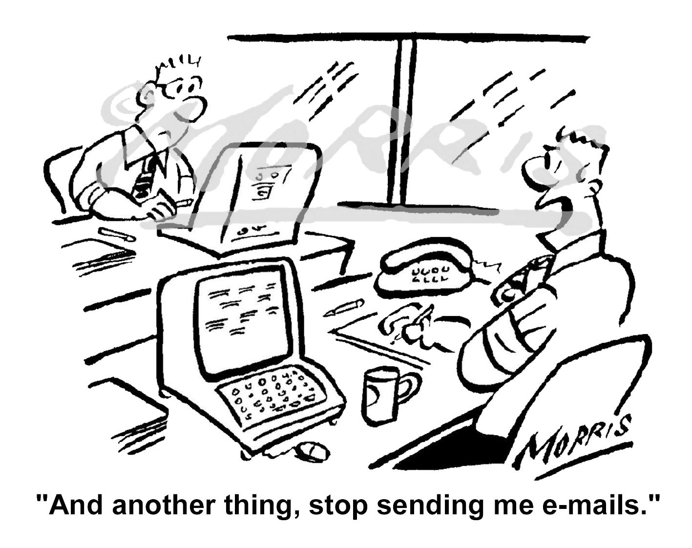 IT/Business email comic cartoon – Ref: 3393bw