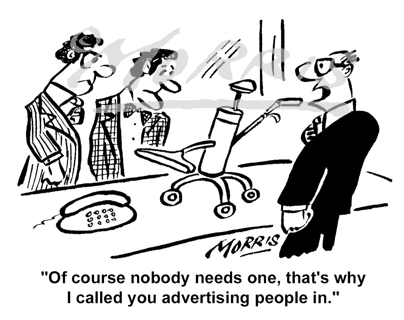 Advertising cartoon – Ref: 3408bw