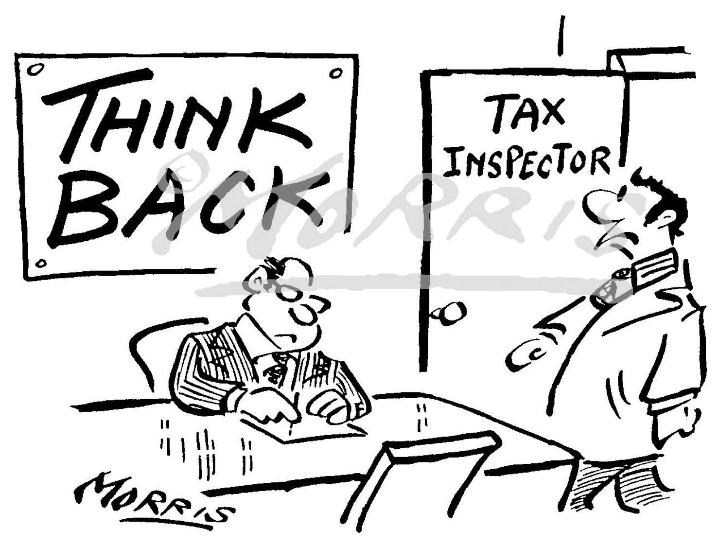 Taxation cartoon – Ref: 3422bw