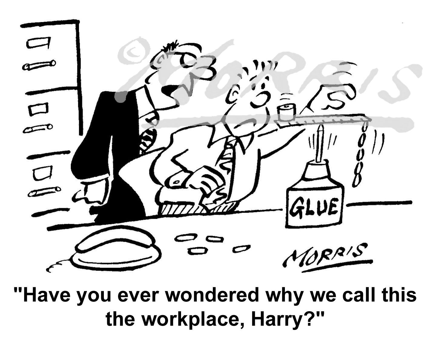 Office cartoon – Ref: 3472bw