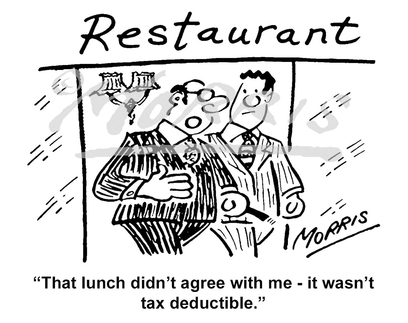 Accountants Tax cartoon – Ref: 3613bw