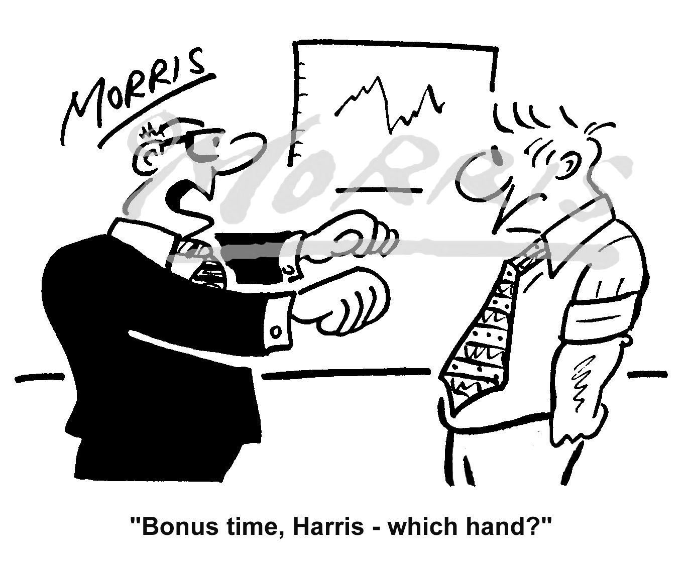 Management bonus comic cartoon – Ref: 3633bw