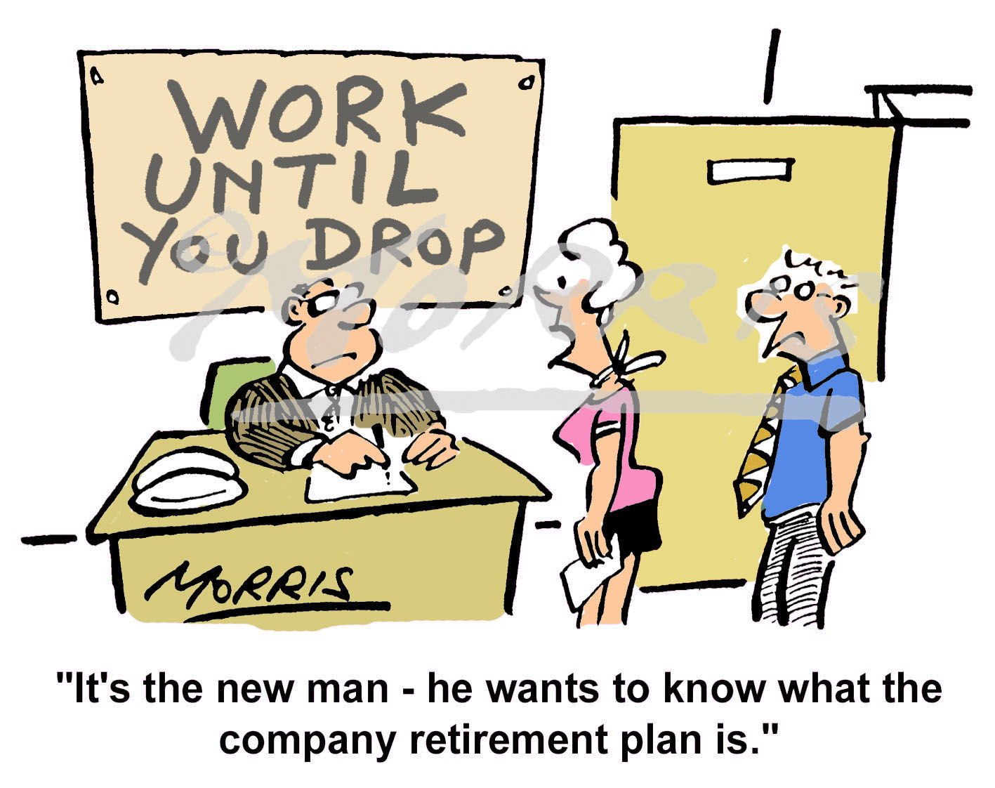 Retirement cartoon, Retirement comic