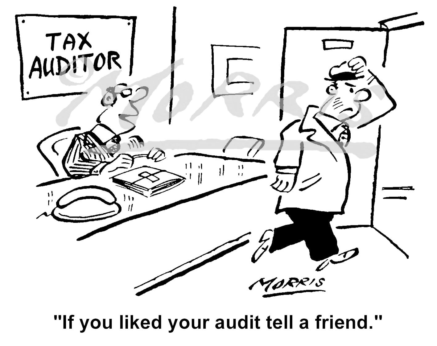 Accounting business cartoon – Ref: 3885bw