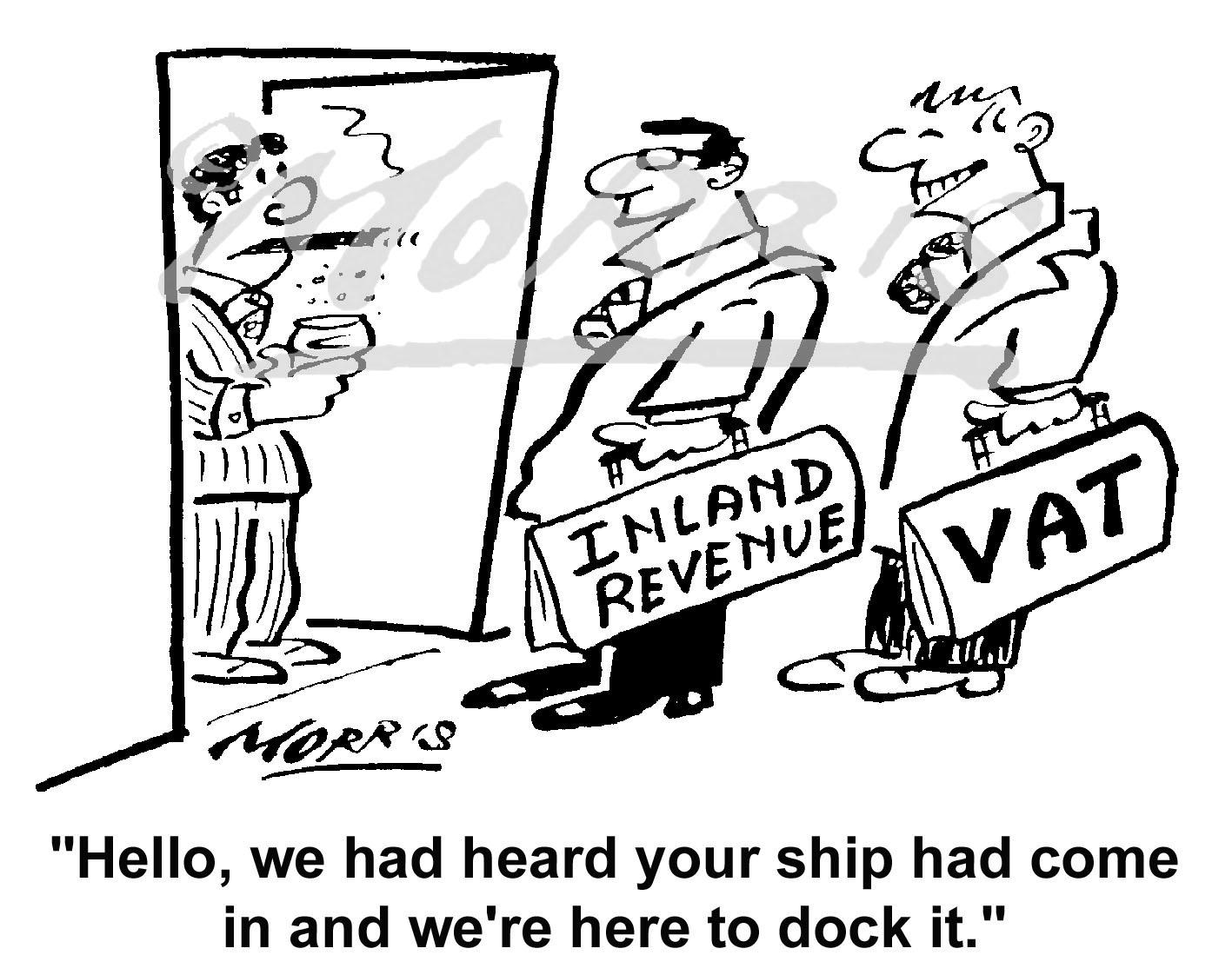 Tax cartoon – Ref: 3901bw