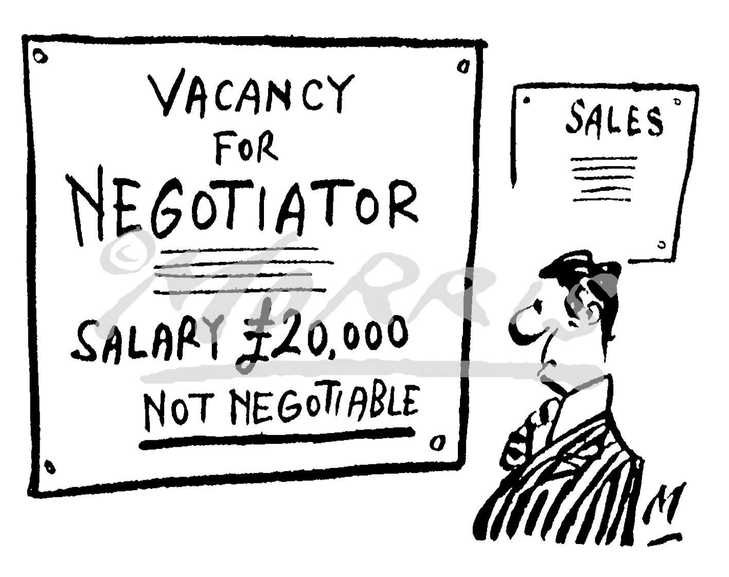 Business Job advertisement cartoon – Ref: 3983bw