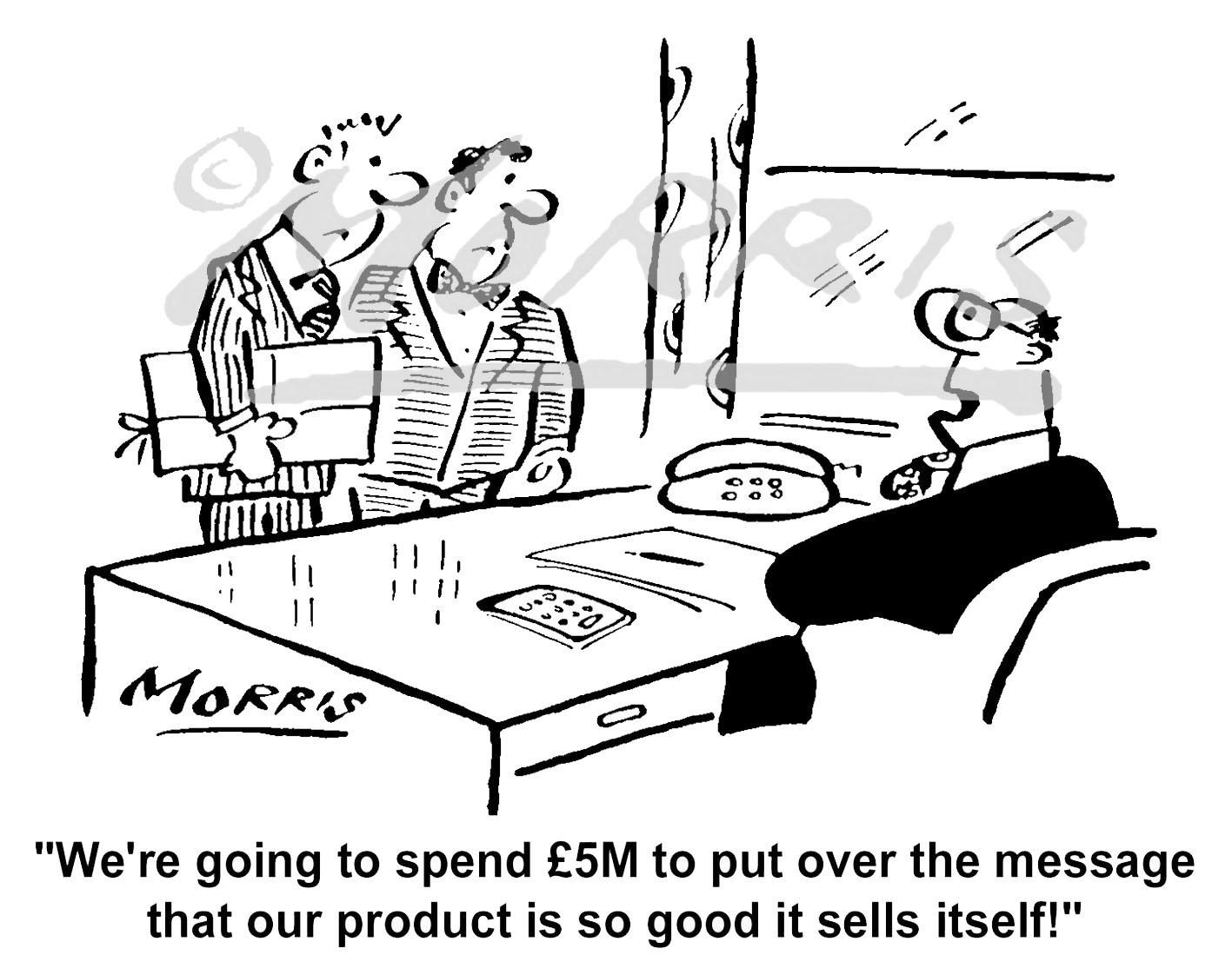 Marketing business cartoon – Ref: 4089bw