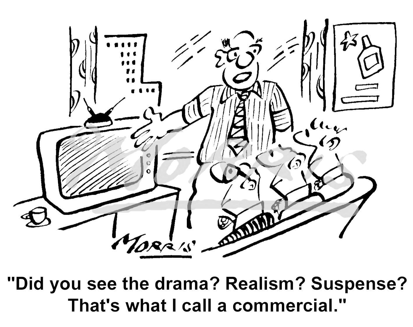 Marketing cartoon – Ref: 4097bw