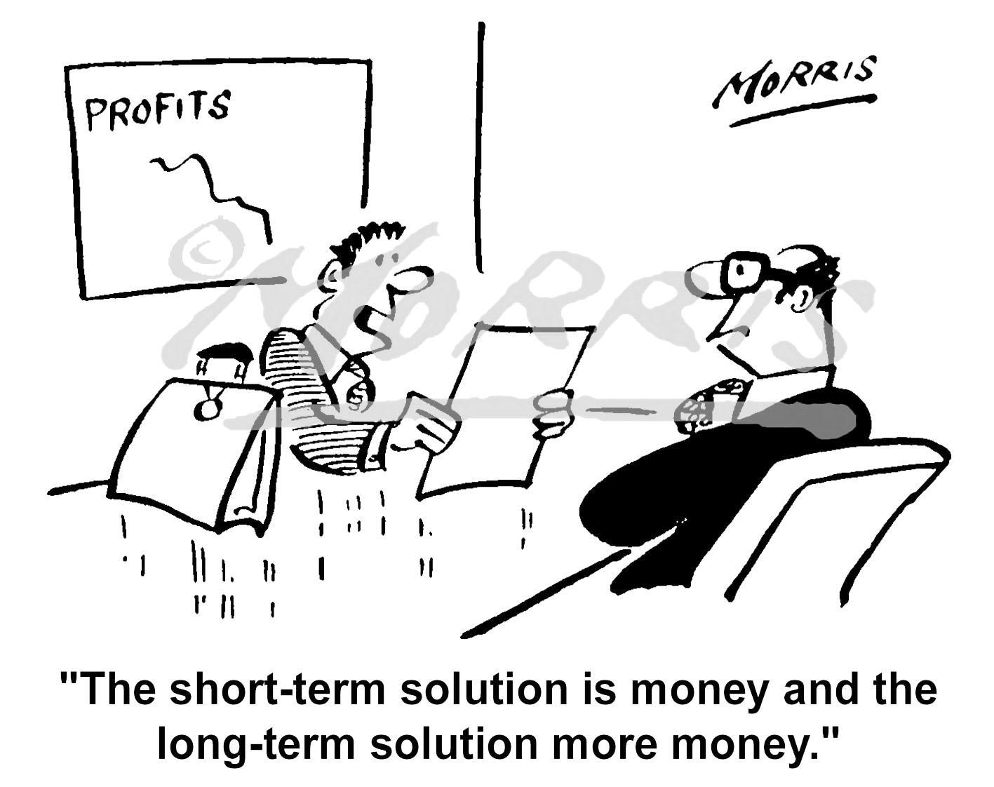 Accountancy money business cartoon – Ref: 4121bw
