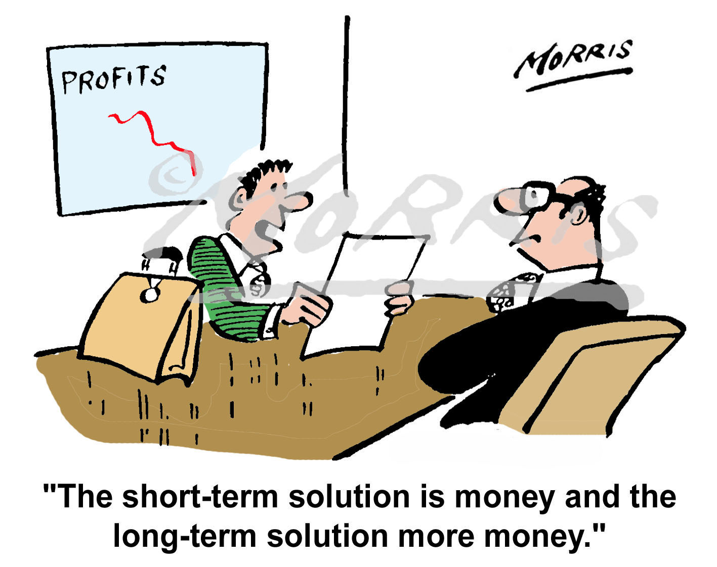 Accountancy money business cartoon – Ref: 4121col