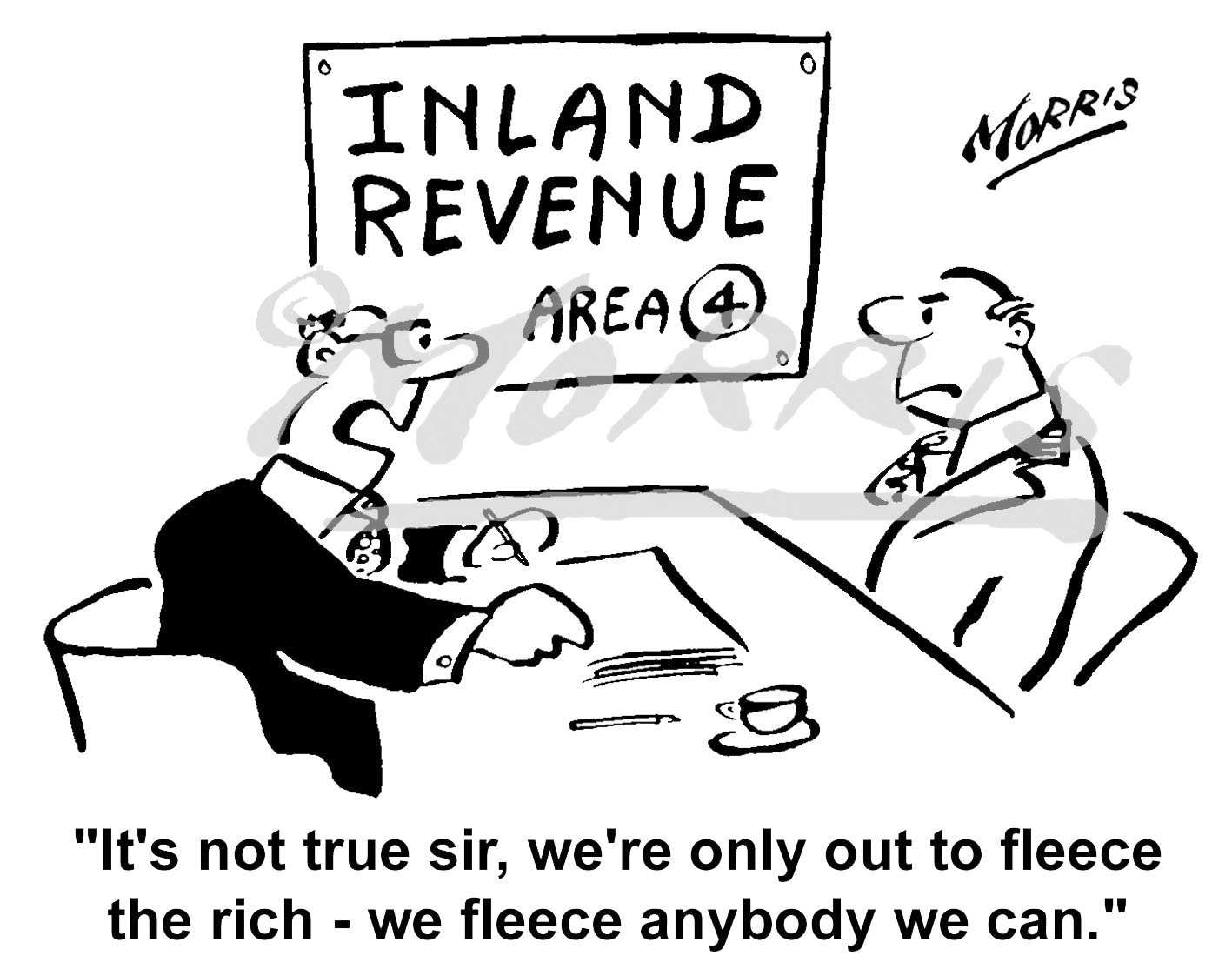 Taxation business cartoon – Ref: 4169bw