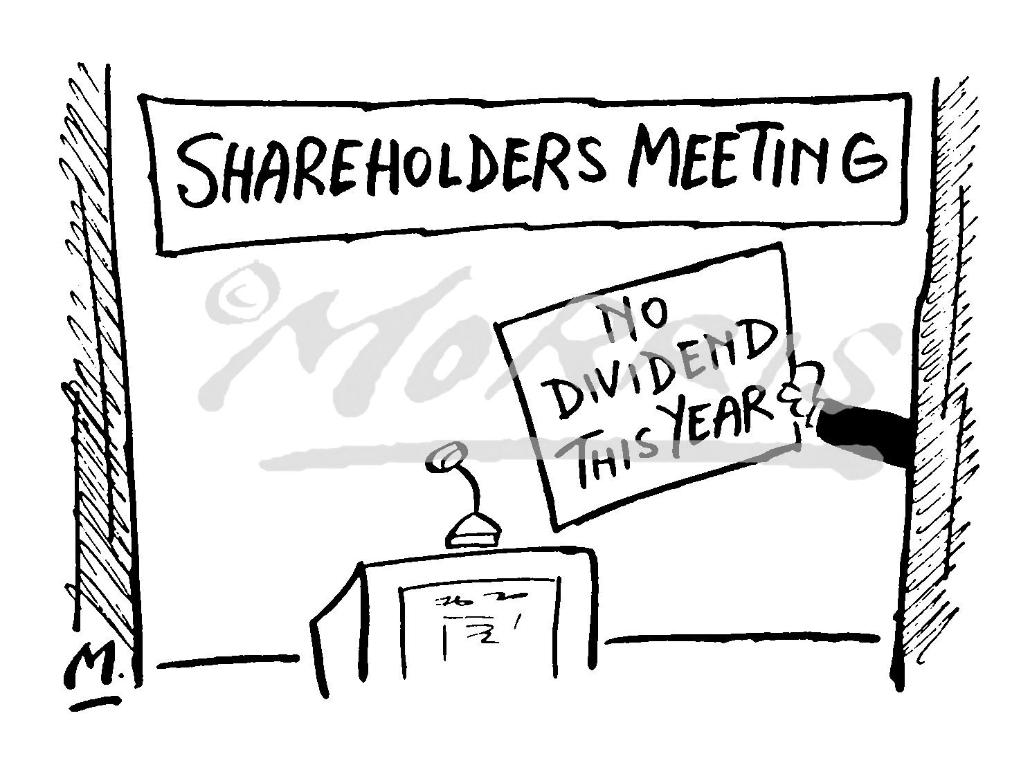 Shareholders cartoon – Ref: 4185bw
