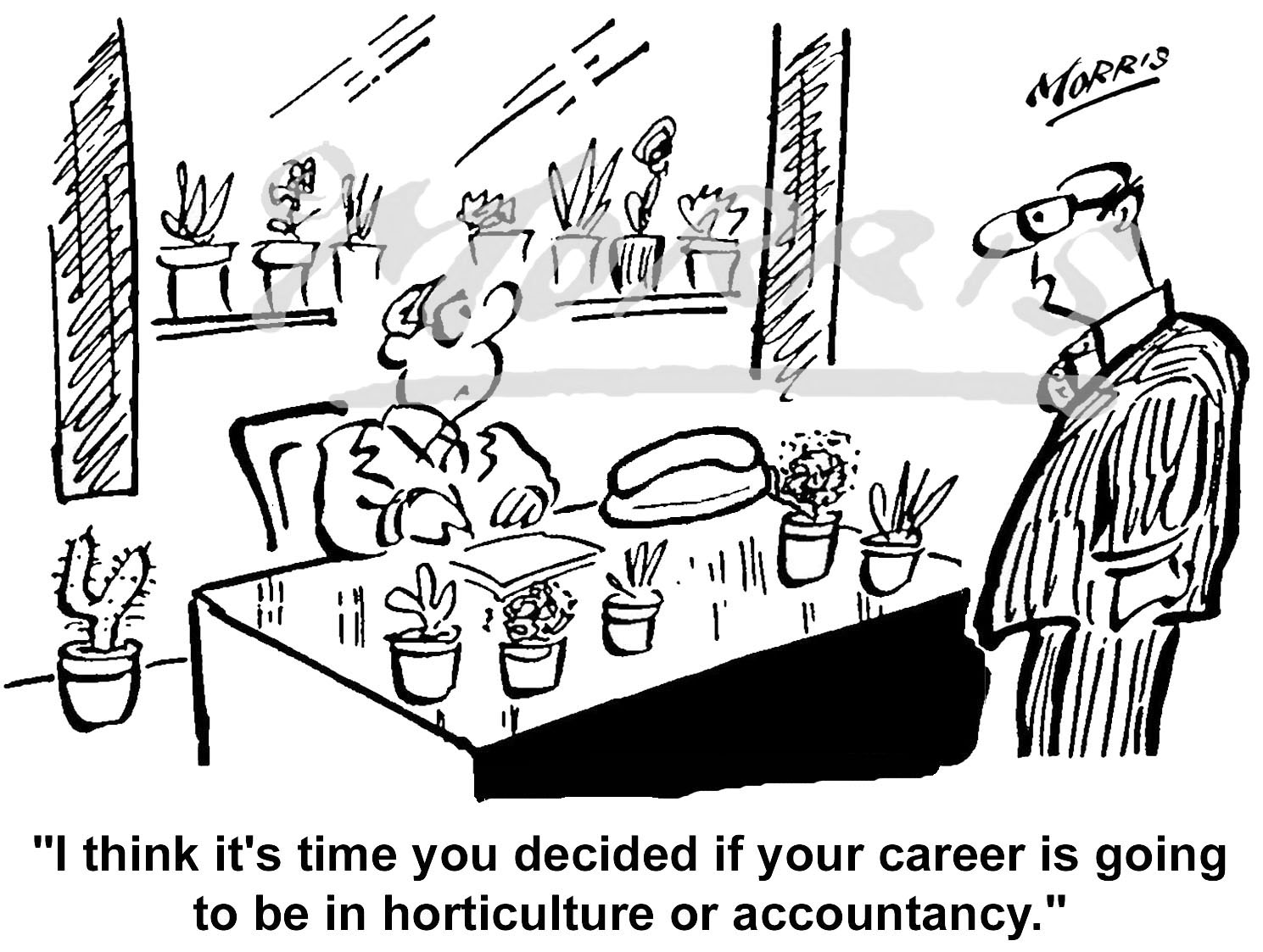 Accountancy cartoon – Ref: 4191bw
