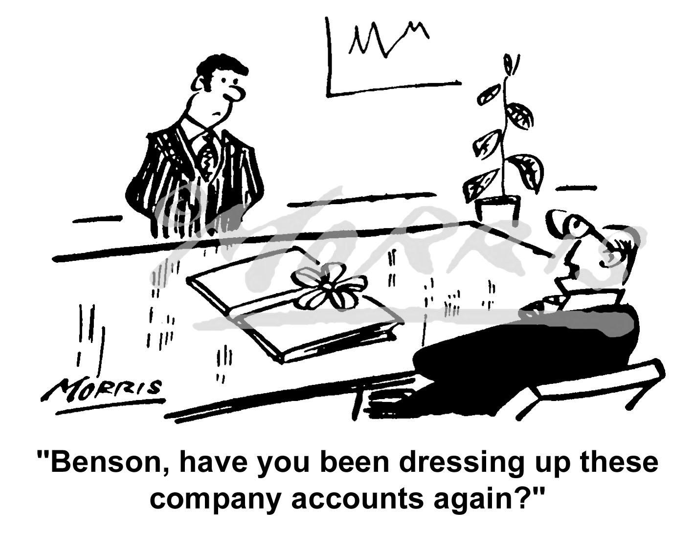 Accountant cartoon – Ref: 4220bw