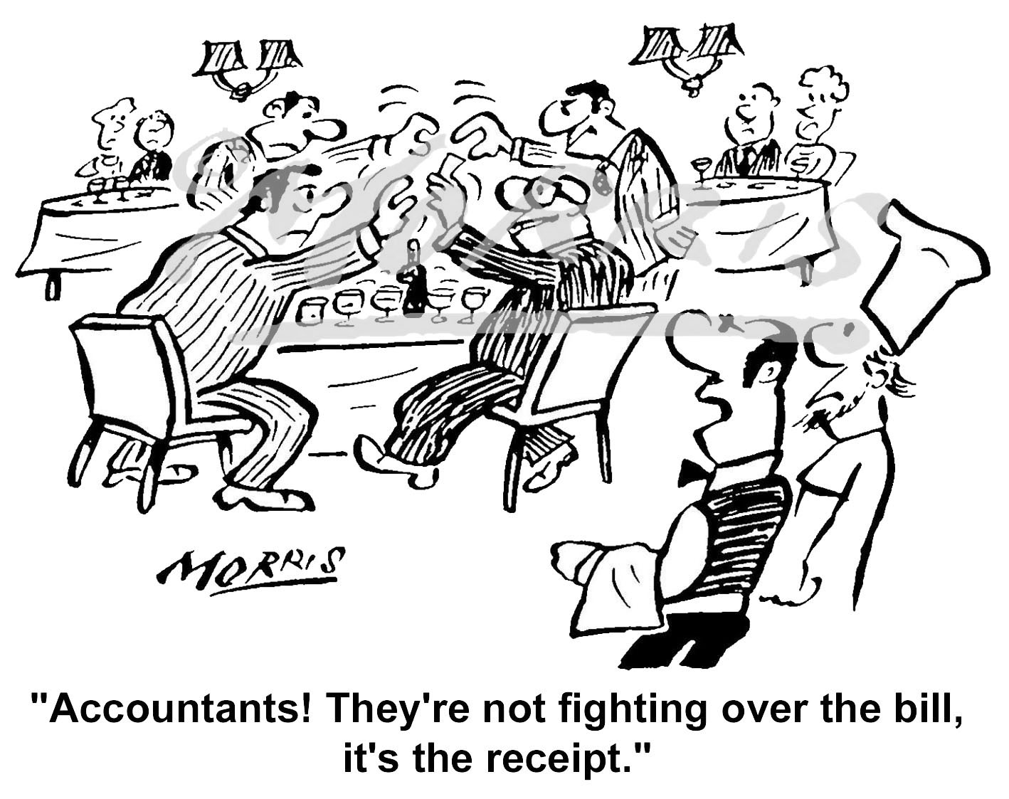 Accountant receipt cartoon Ref: 4257bw