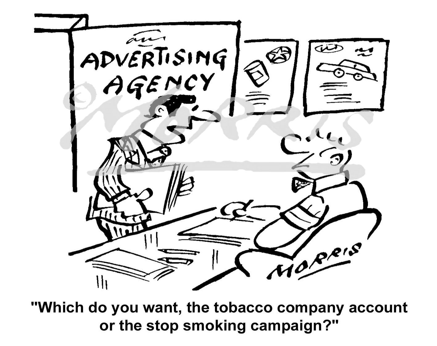 Advertising cartoon, Advertising Agency cartoon – Ref: 4258bw