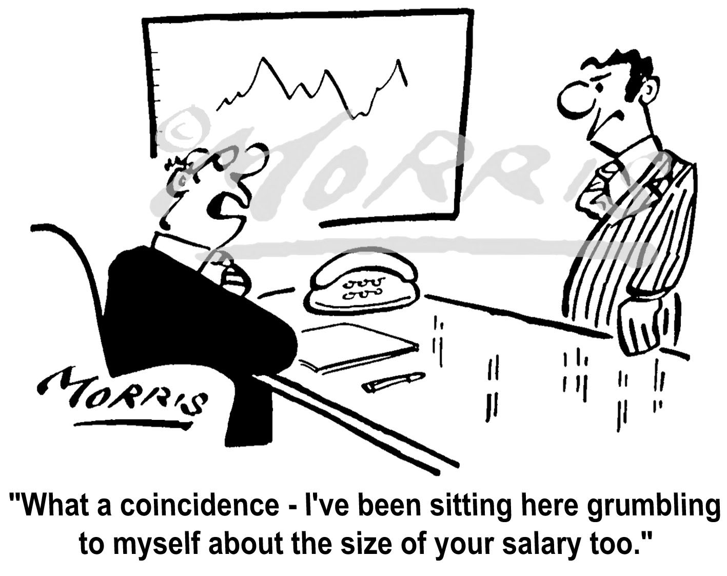 Office manager employee salary cartoon Ref: 4277bw