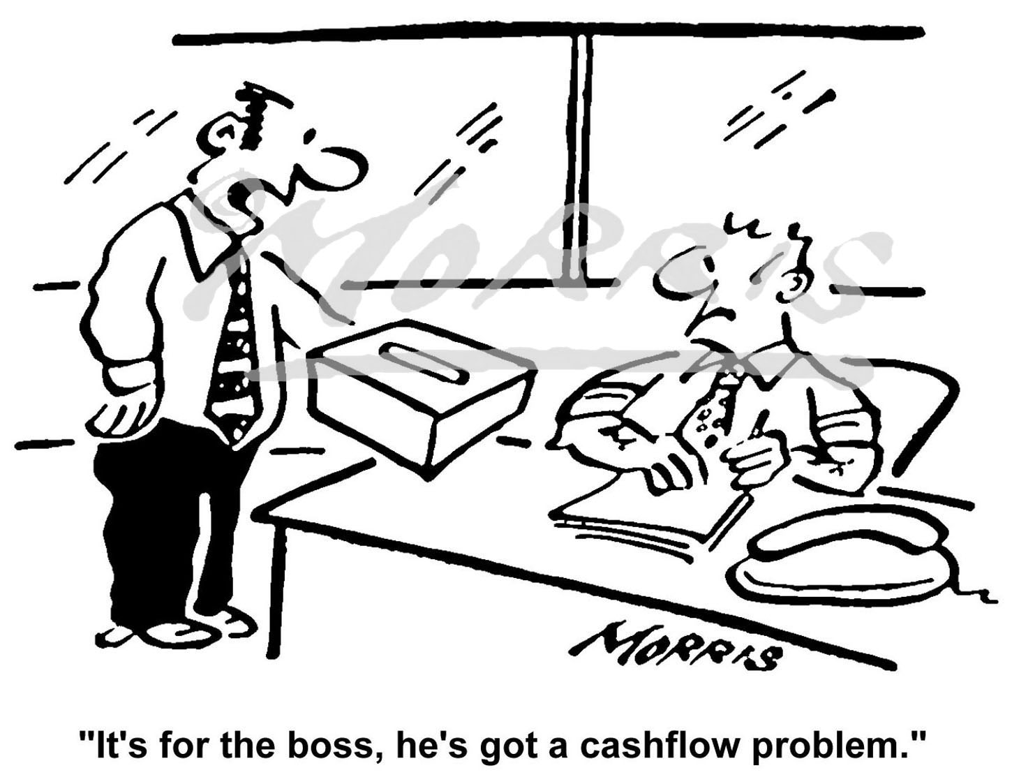 Accounting cartoon – Ref: 4283bw