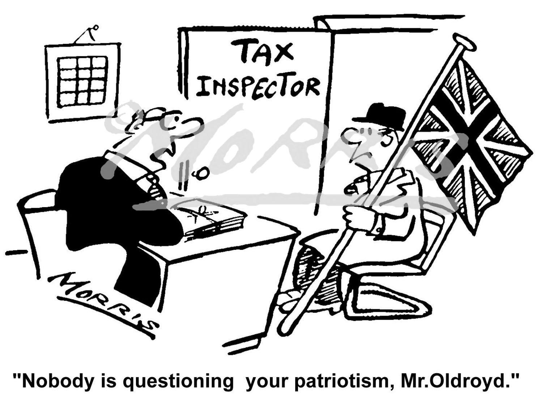 Taxation business cartoon – Ref: 4291bw