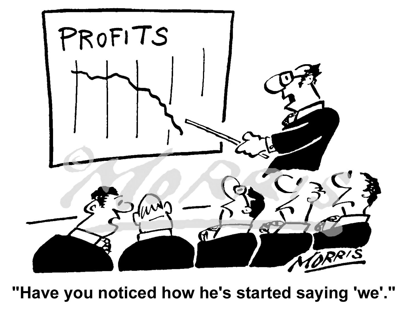 Accounting business cartoon – Ref: 4300bw
