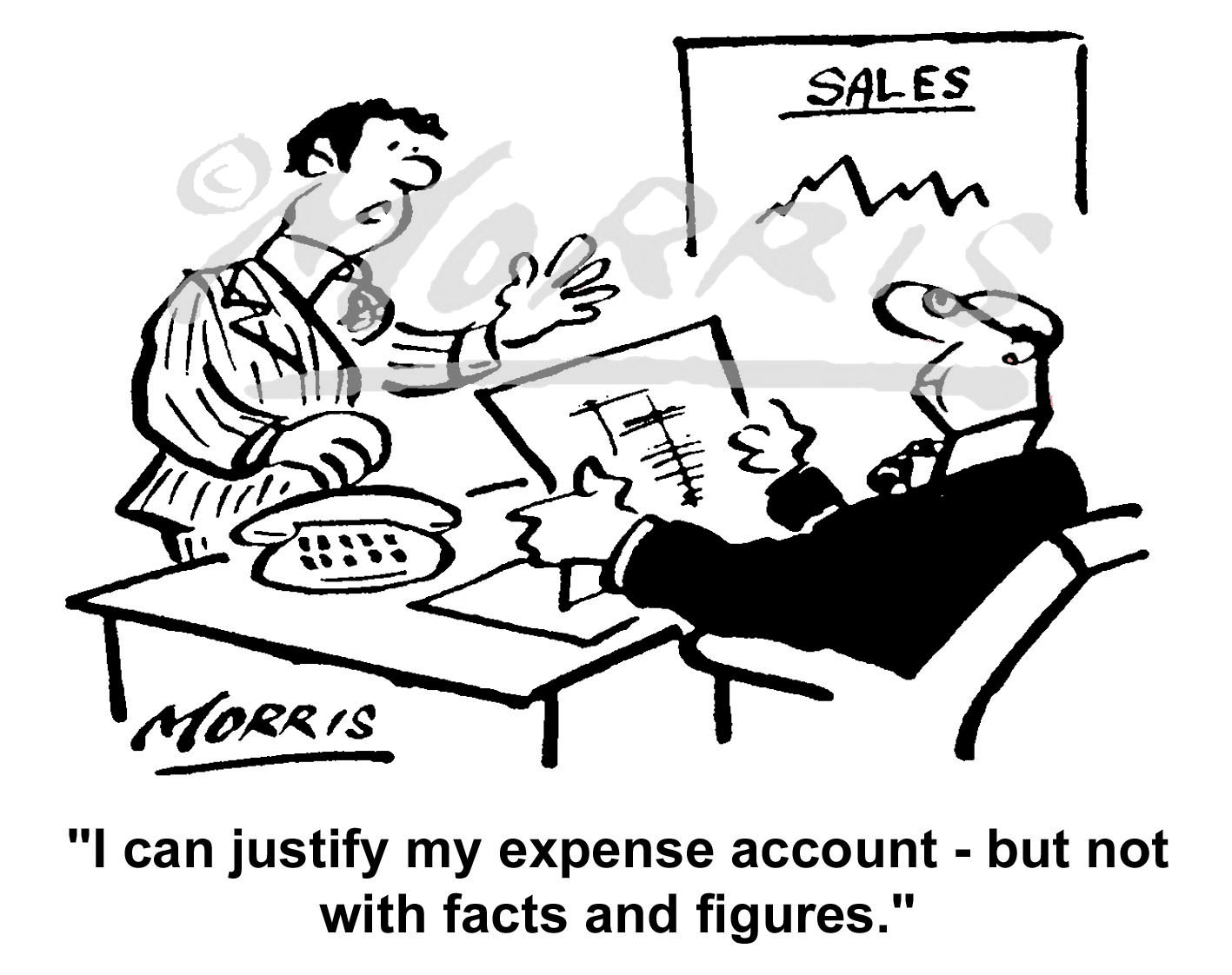 Business expense account cartoon Ref: 4311bw