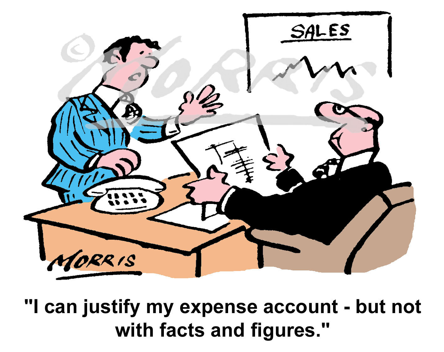 Business expense account cartoon Ref: 4311col