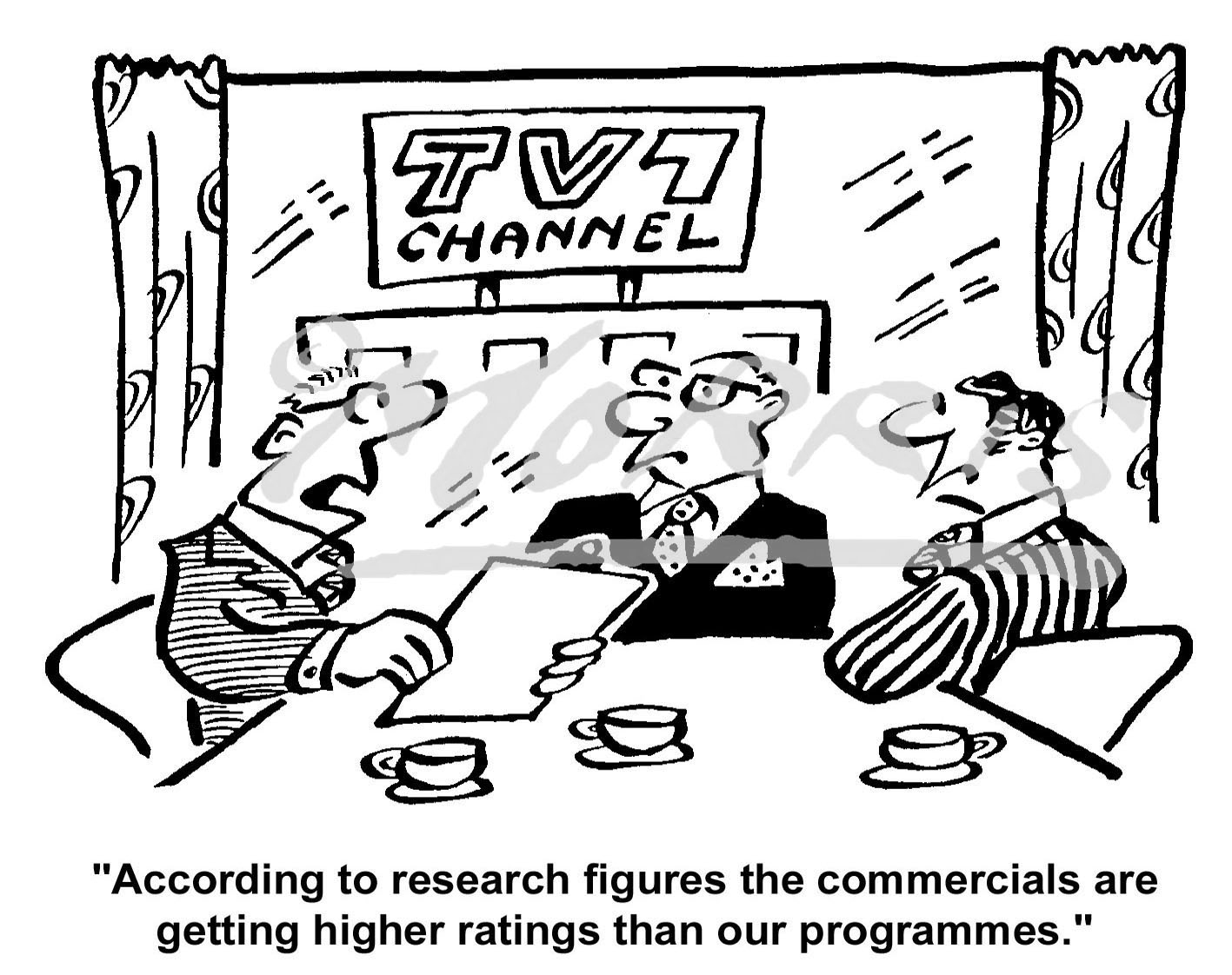 Research figures cartoon Ref: 4317bw